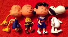 Lot Of 1967 Liddle Kiddle Peanuts Lucy, Snoopy, LINUS & Charlie Brown Skediddle