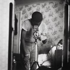 Self-Portrait by Armet Francis with a Yashica Mat LM - 1964