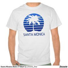 Santa Monica Retro T-Shirt. #Zazzle #tshirts