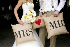 I would love to have pillows kind of like this for the wedding pics and then they can be used at our future home as decor :)
