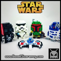 3D Star Wars perler beads by VoxelPerlers