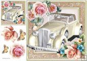 Beautiful Cream Wedding Car 8x8