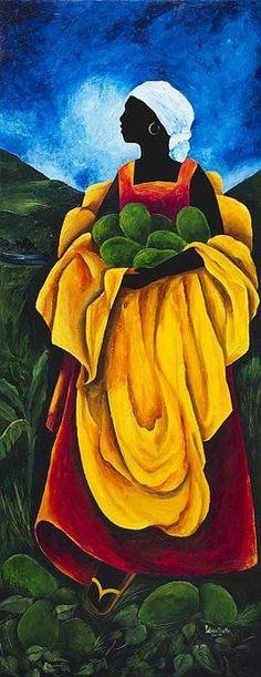 Season Avocado Canvas Print / Canvas Art by Patricia Brintle Black Women Art, Black Art, Afrique Art, African Art Paintings, Haitian Art, Caribbean Art, Art Africain, Afro Art, African American Art