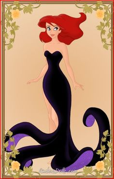 Ariel as Ursula by ~SeraJay on deviantART Love the idea of a slit down the side