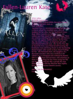 Fallen Series by Lauren Kate Fallen Series, Fallen Book, Reform School, Troubled Teens, Lauren Kate, Handsome Boys, I Fall, Novels, Author