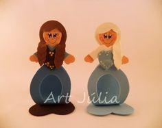 Porta Bombom Anna e Elsa