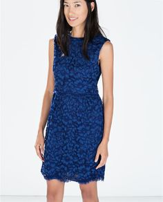 Image 2 of LACE DRESS WITH WAIST SEAM from Zara