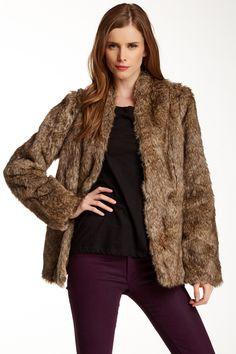 Tess Faux Fur Coat by Heartloom on @HauteLook