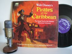 """ON SALE Pirates of the Caribbean - """"Walt Disney's Pirates of the Caribbean"""" (Original 1968 Disneyland Records with original color booklet) by DropTheNeedle on Etsy https://www.etsy.com/listing/74513343/on-sale-pirates-of-the-caribbean-walt"""