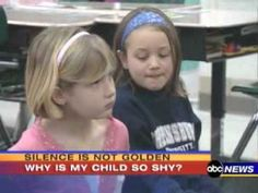 "great video from ABC on Selective Mutism.  Do you know a child who is ""Painfully Shy?"""
