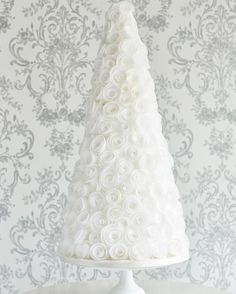 Look out for our beautiful wafer paper rose tower next weekend on display at @bridestheshow #thecakeparlour