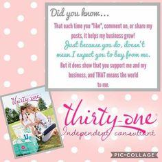 www.mythirtyone.com/valerieweddle31 follow my group on Facebook -Get organized with Valerie