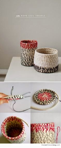 How to make rope coil vessels