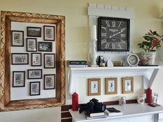 Painted photo frame on the wall to keep memories. Do it yourself.