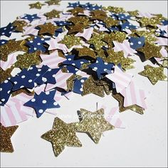Navy & Pink Star Party Confetti