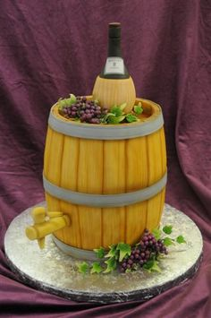 Wine Barrel Grooms Cake