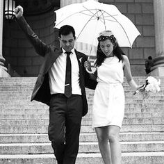 Turn the courthouse into your catwalk with these city hall-approved nuptial getups.