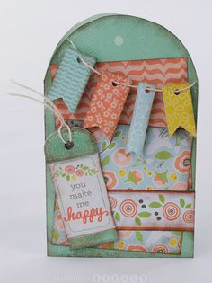 Card made with We R Memory Keepers Simply Spring collection