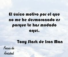 Frases de iron man de Tony Stark de Iron Man
