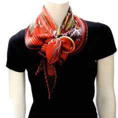MaiTai's Picture Book: Plissé scarves - how to knot