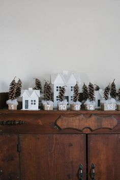 DIY | Pinecone Forest and Cardboard Village Advent Calendar on A Daily Something