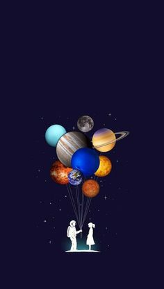 Pin by rida on love space illustration, astronaut wallpaper, galaxy wallpap Planets Wallpaper, Wallpaper Space, Galaxy Wallpaper, Screen Wallpaper, Mobile Wallpaper, Wallpaper Backgrounds, Wallpaper Ideas, Art Galaxie, Astronaut Wallpaper