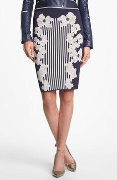 Diane von Furstenberg 'Kacee' Print Twill Pencil Skirt available at #Nordstrom