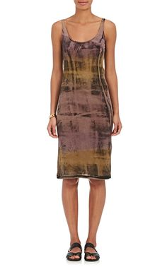 Raquel Allegra Tie-Dyed Cotton-Blend Jersey Tank Dress | Barneys New York