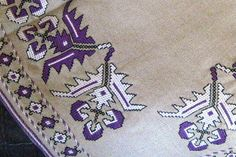 Authentic handmade embroidery linen lilac and white pattern tablecloth Vintage Embroidery, Embroidery Patterns, Vintage Marketplace, Bargello, White Patterns, Lilac, Needlework, Cross Stitch, Elsa