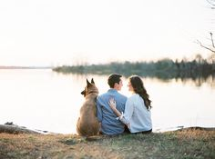 Reina & Adam's sweet nature-filled engagement is too lovely to miss! And did I mention the adorable dog?  . photography: Tracy Burch Photography / film processing: PhotoVision Printing / captured on Portra 400 with Contax 645 http://whitewren.com/romantic-woodland-lakeside-engagement/?utm_campaign=coschedule&utm_source=pinterest&utm_medium=The%20White%20Wren%20&utm_content=Romantic%20Woodland%20Lakeside%20Engagement%3A%20Reina%20and%20Adam