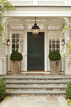 beautiful boxwoods~front porch