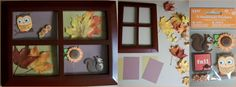 DYI fall picture frame. Decoration used for table centerpiece.
