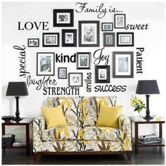 Family is... 13 x 36 Wall Decal by BestPricedDecals on Etsy, $12.99