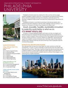 International Student Informational Factsheet Campaign