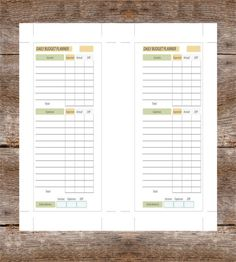 Personal Budget Tracking Template  Simple Personal Budget