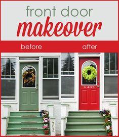 How I took my front door from Blah to beautiful!