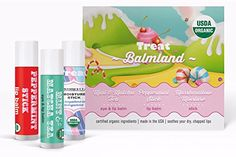 TREAT Balmland Jumbo Organic Lip Balm Eye Balm  Moisture Stick Set 3 X 050 OZ >>> Find out more about the great product at the image link.