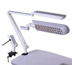 Daylight led slimline table lamp brushed chrome manicure manicure table lamp led mozeypictures Gallery