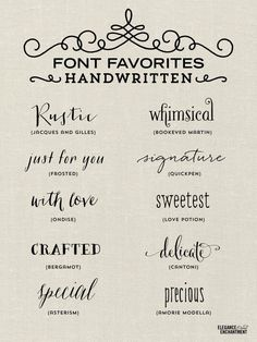 Elegance and Enchantment Font Favorites - Handwritten