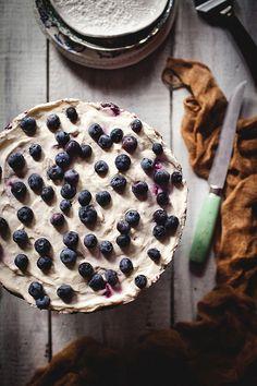 berries + cream cake