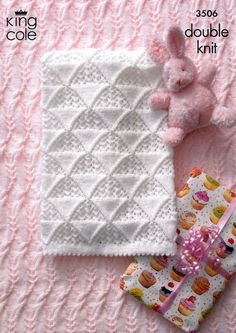 Cot Blanket in King Cole DK with Free Pattern (3506) | Deramores