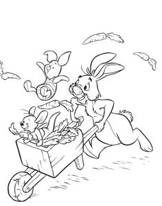 Coloring Pages For Kids Rabbit And Piglet