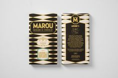 Marou chocolate package design for an Intercontinental restaurant founded by Michel Roux
