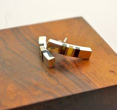 Amber and Sterling Silver Contemporary Designer Earrings on Etsy, £48.60