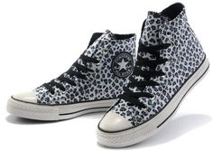 Hi converse shoes All Star leopard prints canvas sneaker shoes with shoe lace black white-: Amazon.co.uk: Shoes & Accessories