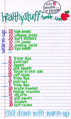 Quick work out - always handy. :)