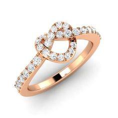 Round SI Diamond  Wedding Ring Ring in 14k Rose Gold
