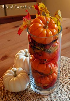 Fall Centerpiece- without the fake leaves