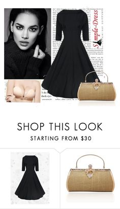 """Simple-Dress 25."" by azraa91 ❤ liked on Polyvore featuring vintage and simpledress"