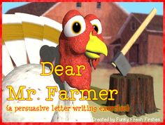 Gobble, Gobble, Gobble... can you convince the farmer to spare your life?  Use the graphic organizer to come up with 3 really creative ideas... and GOOD LUCK!